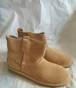 b15985e88f0 Details about NEW IN BOX UGG WOMEN'S CLASSIC UNLINED PERF SUEDE BOOTS  1016852 TAWNY SIZE 8
