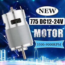 775 Dc Motor Ball Bearing 12 36v 3500 9000rpm Large Torque Power Low Noise B7z3