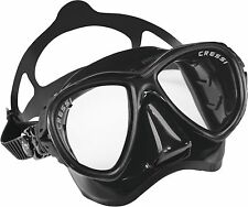 Cressi Sub Eyes Evolution 2 Lens Scuba Diving Silicone Mask Made in Italy Black