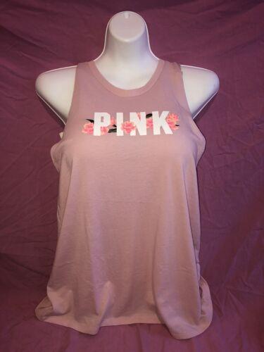 Victoria/'s Secret PINK Tank Top Loose L Xl Floral Bright Twist Back Shirt New ❤️