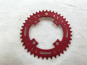 Snap BMX Products S4 104mm 4 bolt Chainring - 42t Red