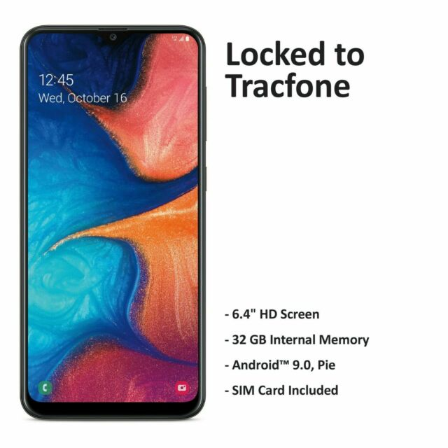 Tracfone Samsung Galaxy A20 4G LTE Prepaid Cell Phone