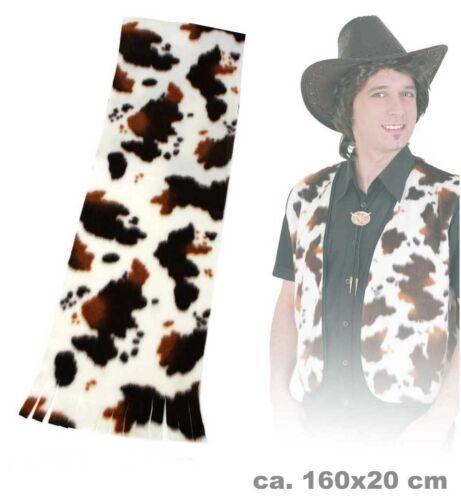 Plüschschal Pferd Kuh Cowboy Plüsch Schal Winter Fasching Kostüm 124579113