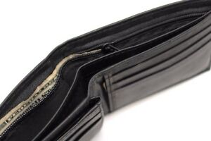 Men-039-s-Minimalist-Bi-fold-Leather-Wallet-Card-Case-Zipper-Bill-compartment