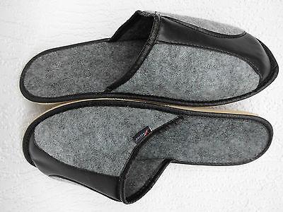 FILZ Pantoffeln - Hausschuhe, Gr.40 WOLLFILZ, Grau (20-01-1-86)