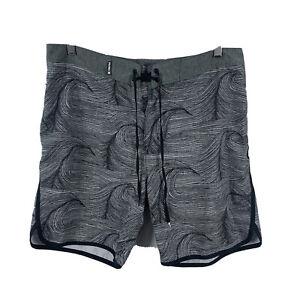 Hurley-Phantom-Mens-Board-Shorts-Size-33-Swim-Shorts-Grey