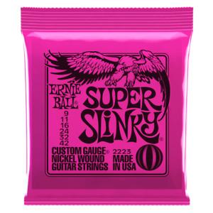 Ernie Ball 2223 Super Slinky Electric Guitar Strings 9 - 42 Down in