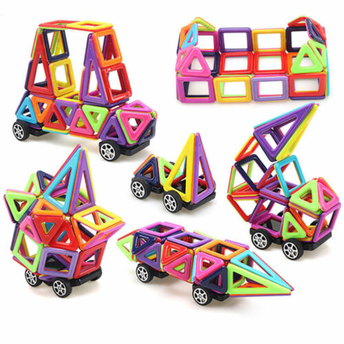 234PCS Kids DIY 3D Magnetic Blocks Multicolour Construction Building Puzzle Toys
