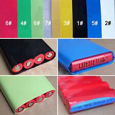 Pvc Heat Shrink Tubing Wrap Rc Battery Pack 85mm Flat Size 8 Colors Optional