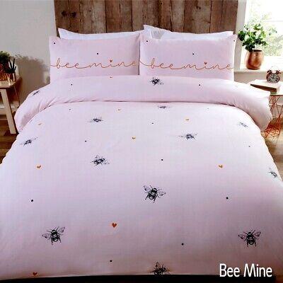 Bees & Cuori Rosa Bee Mine Piumone Set Di Biancheria Da Letto Con Copripiumone Disponibile In + Pillowcases- Costo Moderato