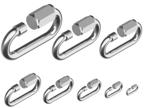 1 5 10 x Kettennotglied Stahl Edelstahl VA Kettenverbinder Schraubverschluss