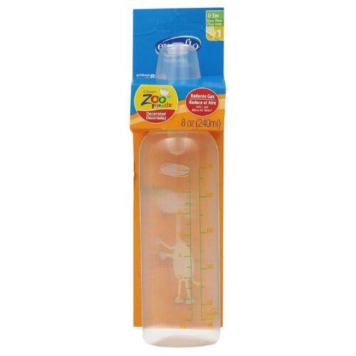Evenflo Classic Zoo Friends BPA Free Plastic Bottles 8 oz Assorted 1 ea