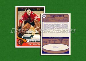Tony Esposito - Chicago Black Hawks - Custom Hockey Card  - 1973-74