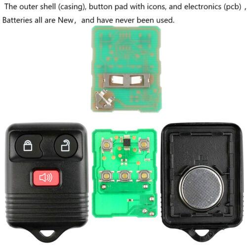 2 New Car Remote Keyless Entry Key Fob for Ford Escape F 150 Explorer CWTWB1U345