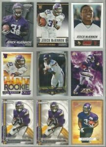 Jerick-McKinnon-Minnesota-Vikings-Georgia-Southern-9-card-2014-RC-lot-all-diffnt