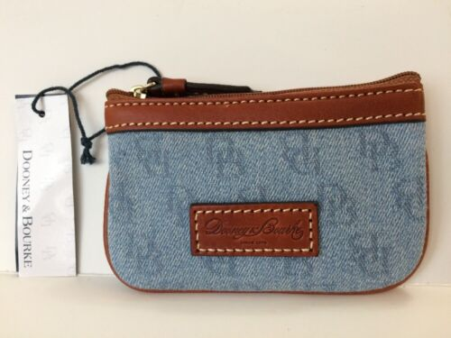 DOONEY /& BOURKE SIGNATURE KEY CHAIN CREDIT CARD HOLDER OR COIN WALLET Blue