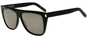 be5c8ad1fcb NEW Genuine YSL YVES SAINT LAURENT Black Smoke Kardashian Sunglasses ...