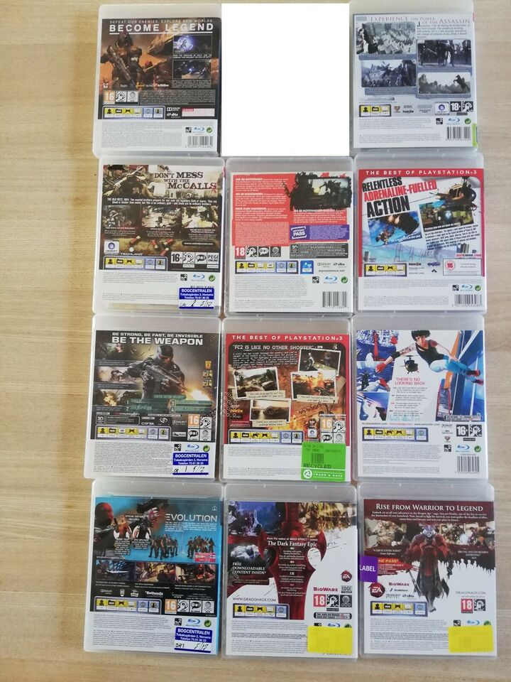 12 PS3 spil, PS3
