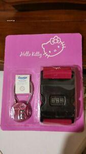 Lucchetto e cinghia per valigia Hello Kitty nuovi (confezione originale)