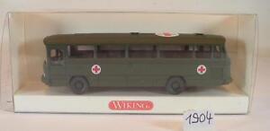 Wiking 1:87 mercedes benz o 302 truppenbus OVP 696 06 Bundeswehr militar