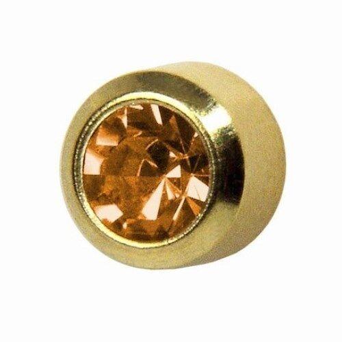 STUDEX Chapado en Oro regular Perforación del Oído Stud Pendientes 4mm Bisel Conjunto Piedras