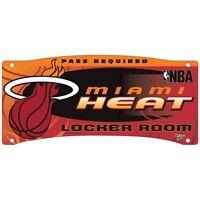 Miami Heat Nba 8x18 Wall Display Plastic Locker Room Sign
