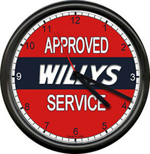 Kaiser Jeep Sales Parts Service Dealer Automobile Retro Car Sign Wall Clock