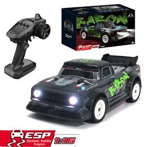 4WD RC 1//16 2.4G 30km//h High Speed LED Light Drift Control Vehicles Racing Car