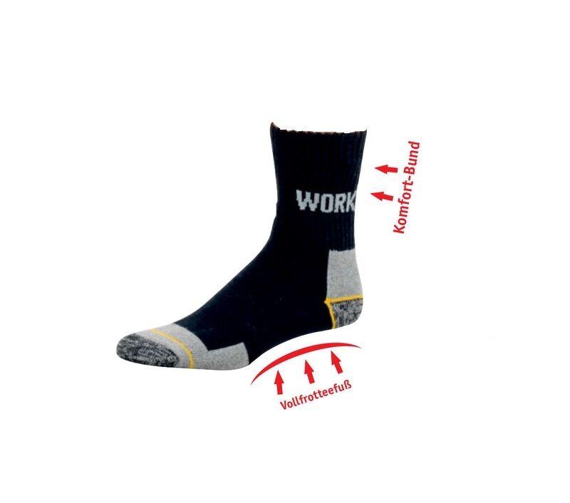 Arbeitssocken, Socken, Arbeits-Socken, Baumwollsocken mit Vollfrottee