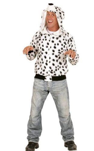 XL Adult Unisex 101 Dalmatian Dog Animal Hoodie Book Day Fancy Dress Costume S