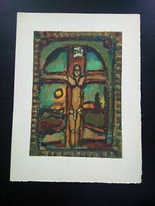 George-Rouault-gravure-bois-grave-parfait-etat-Crucifixion