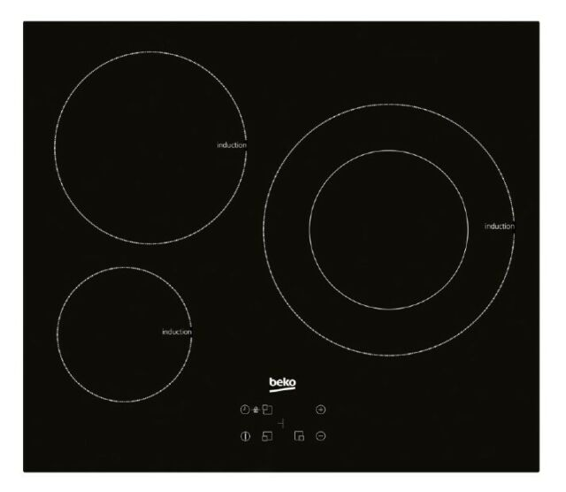 Placa inducción Beko HII 63402 AT 3 zonas