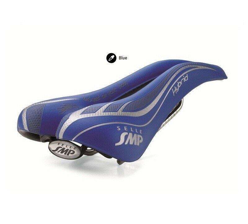 New Selle SMP Hybrid Cycling Saddle, bluee