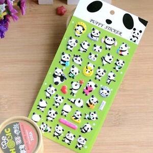 1X kawaii Panda Decorative Craft Adhesive Bubble 3D Diary Photo Sticker Tag