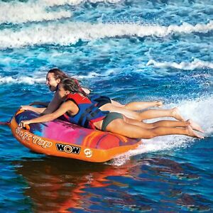 WOW-Watersports-Summertime-Inflatable-2-Person-Ultra-Soft-Top-Lake-Towable-Tube