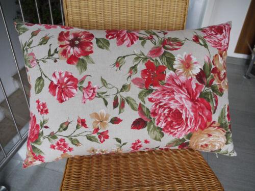 feste Füllung Rückenpolster Sofakissen Blumen-Muster Sevilla 50 x 70 cm