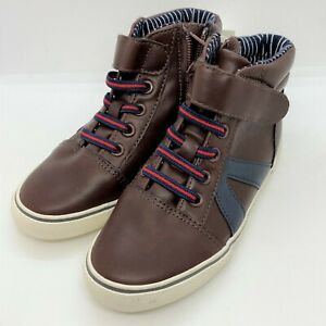 Cat & Jack boys casual no tie shoes-brown-size 12-NWT