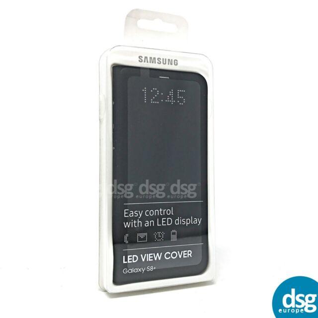 best authentic 2bb32 3c99b Official Samsung Galaxy S8 Plus LED Flip Wallet Cover Black