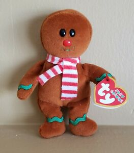 Ty Baby Beanie Retired Holiday Christmas Gingerbread Yummy
