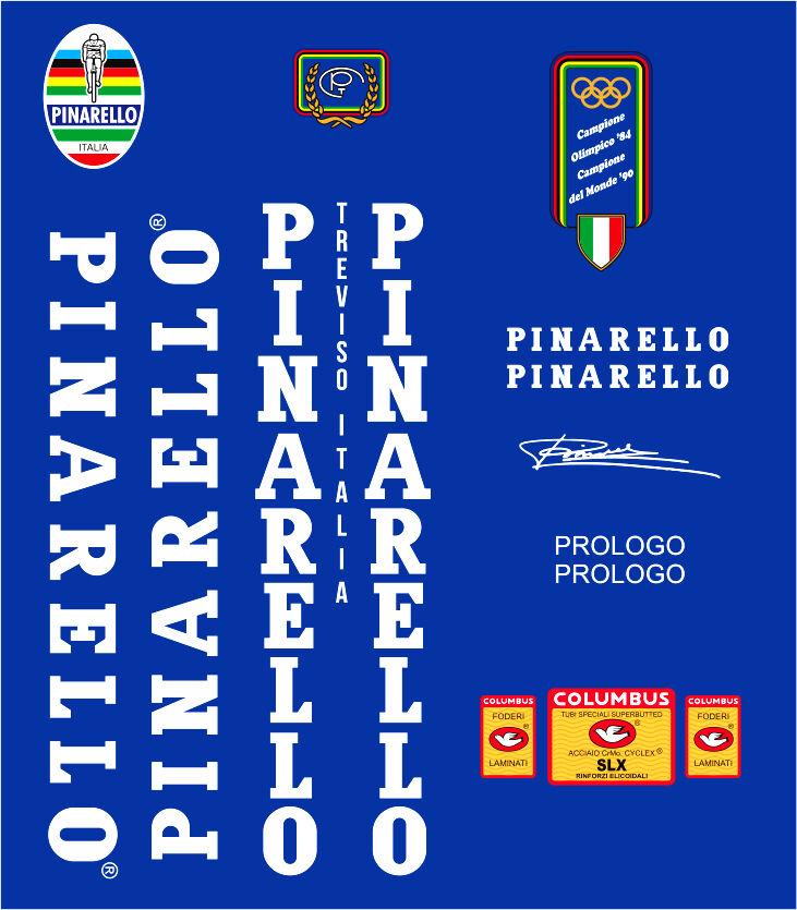PINARELLO PROLOGO FRAME DECAL SET WHITE