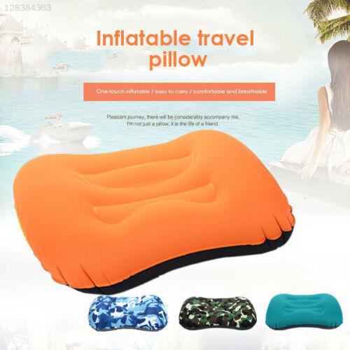 0D0D Nylon Inflatable Pillow Pillows Health Unisex Folding Neck Pillow