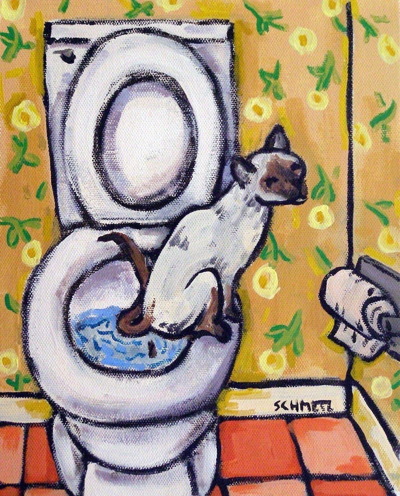 maltese art  poster gift modern folk  4x6  bathroom bather bath GLOSSY PRINT