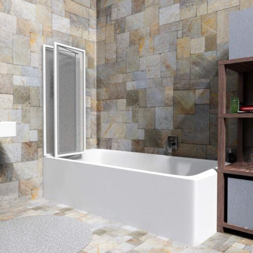 Badewannen Faltwand Duschabtrennung Duschwand Dusche 132 x 140 cm B-Ware