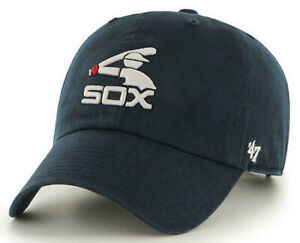 CHICAGO-WHITE-SOX-NAVY-UNSTRUCTURED-STRAPBACK-039-47-BRAND-CLEAN-UP-DAD-HAT-CAP-NEW