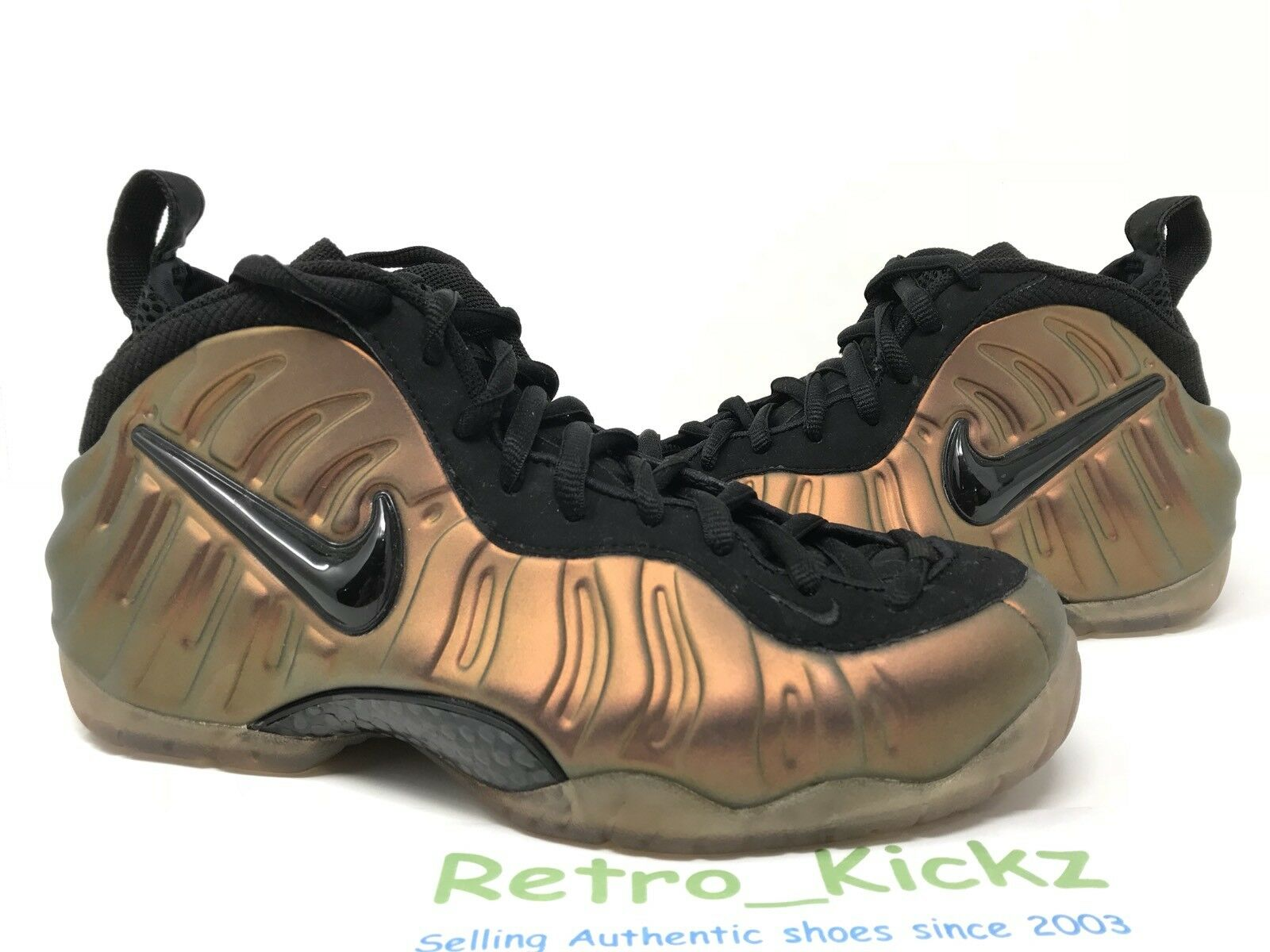 624041 302 NIKE AIR FOAMPOSITE PRO RETRO BLACK GYM GREEN PENNY SIZE 8 MENS