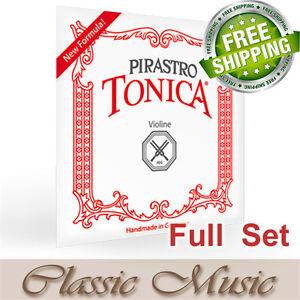 Pirastro Tonica Violin Strings Full Set 4/4 Ball End (412021) Free Shipping!