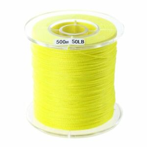 500m-50lb-bunt-4-Straenge-Schl-PE-Braid-Fishing-Line-gelb-m5t-CQ