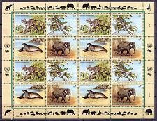 Elefant, Robbe, Vogel, Ozelot - UNO-Wien - 1 KB ** MNH 1994