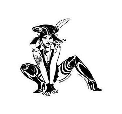 Sexy Rare Goth Bookworm Emo Pin Up Girl Sticker Decal Art By