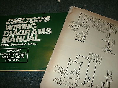 1989 Oldsmobile Cutlass Ciera Wiring Diagrams Schematics Manual Sheets Ebay